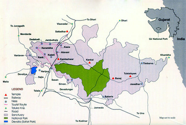 Gir National Park Map